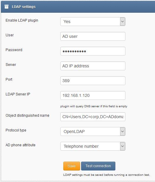 LDAP | SMSEagle